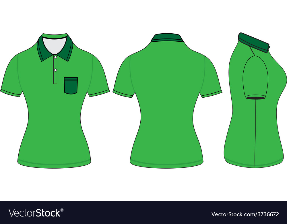 Polo woman shirt design templates vector | Price: 1 Credit (USD $1)