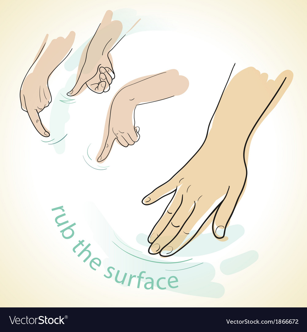 Rub hands icon vector | Price: 1 Credit (USD $1)