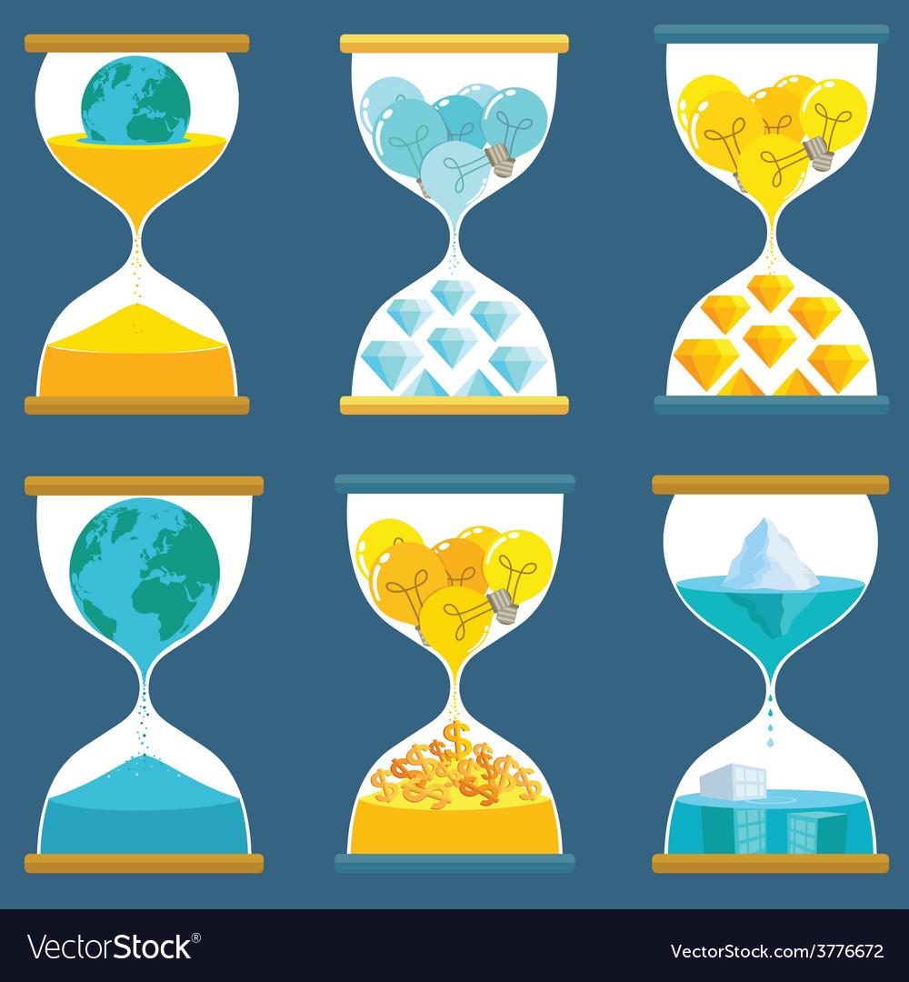 Sandglass creative vector | Price: 1 Credit (USD $1)