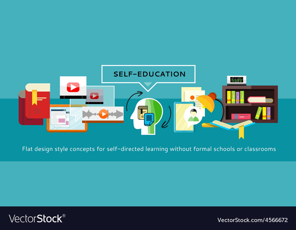Self-education concept vector | Price: 1 Credit (USD $1)