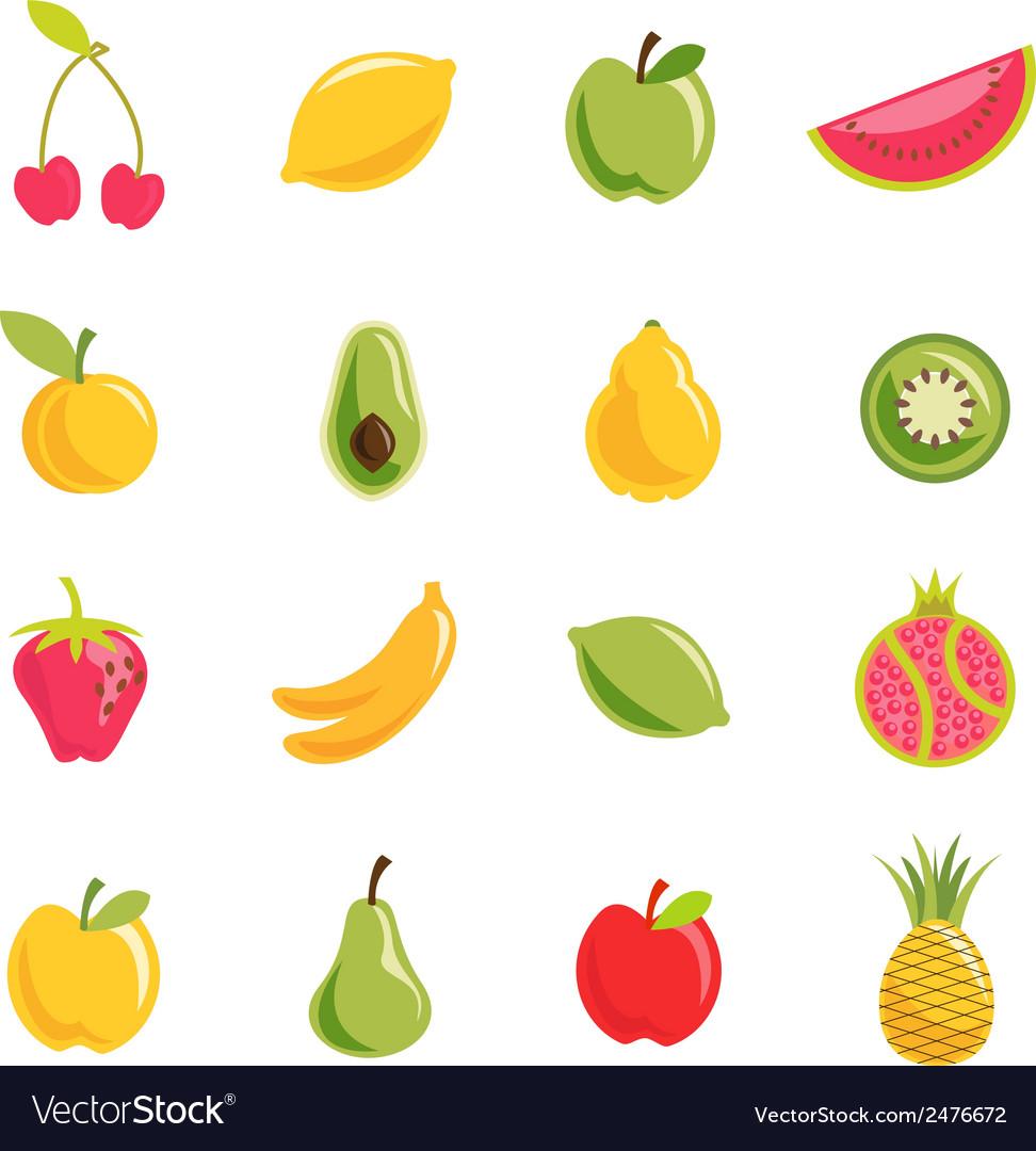 Set of fruit vector | Price: 1 Credit (USD $1)