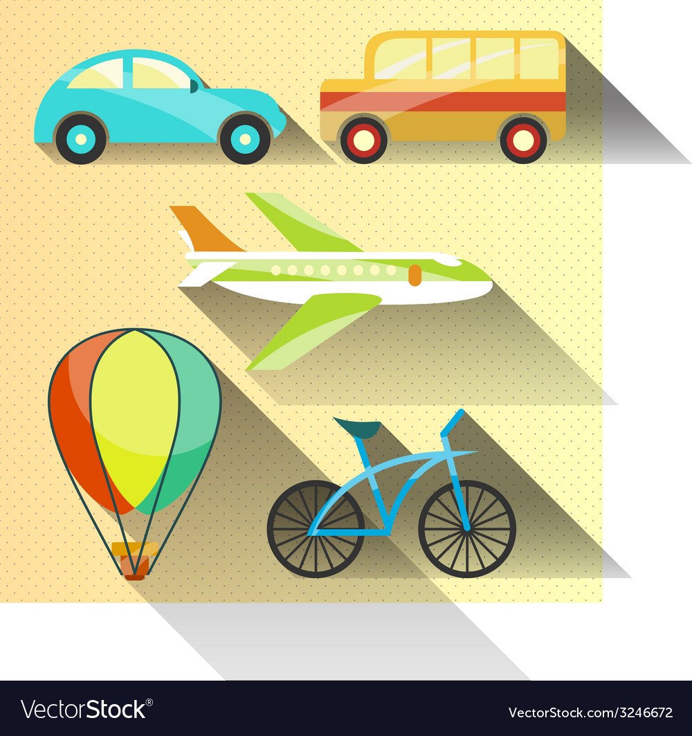 Transportation flat icon vector   Price: 1 Credit (USD $1)