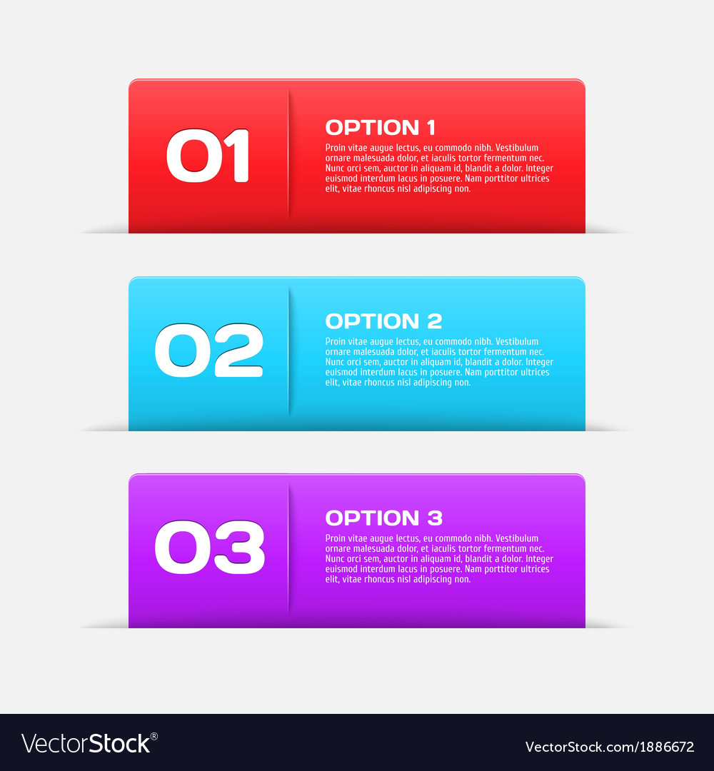 Web banners  infographic elements vector | Price: 1 Credit (USD $1)