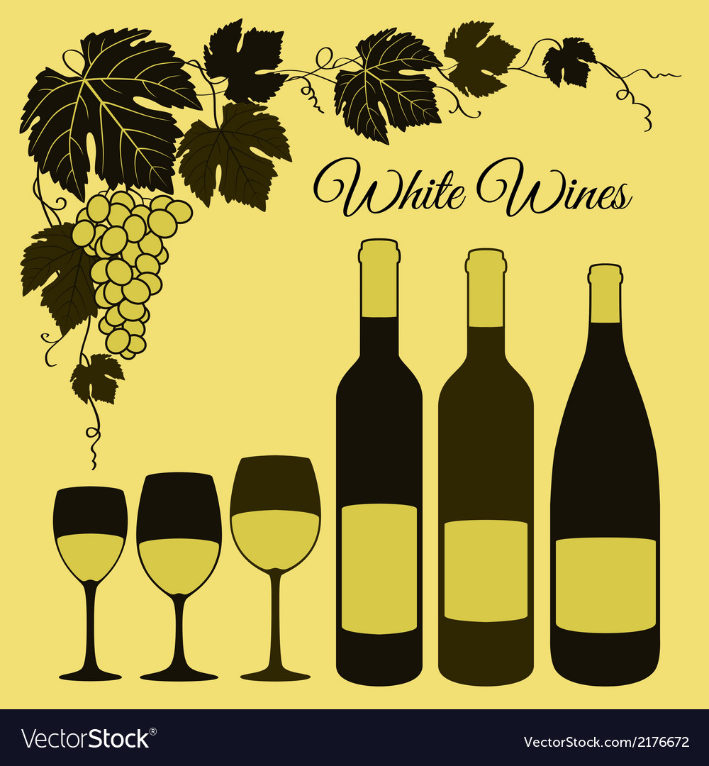 White wine set vector | Price: 1 Credit (USD $1)