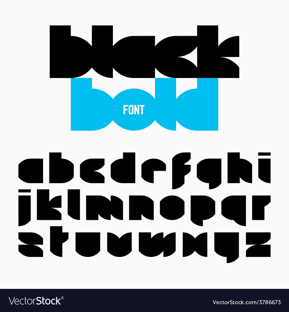 Black bold alphabet vector | Price: 1 Credit (USD $1)