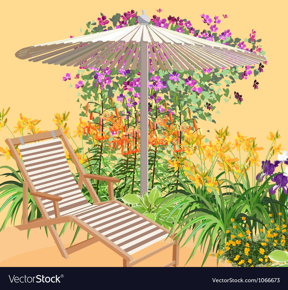 Blooming area vector | Price: 3 Credit (USD $3)