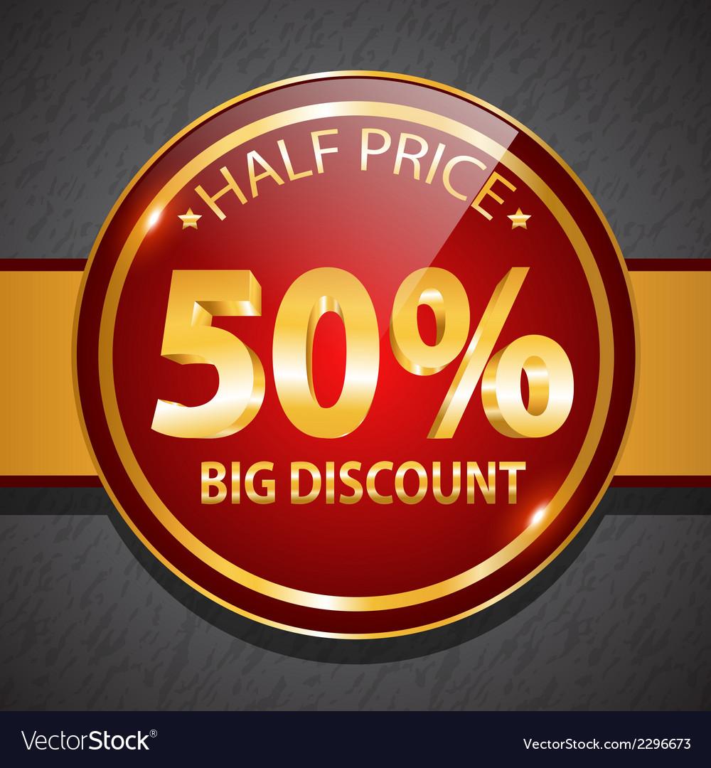 Discount label icon vector | Price: 1 Credit (USD $1)