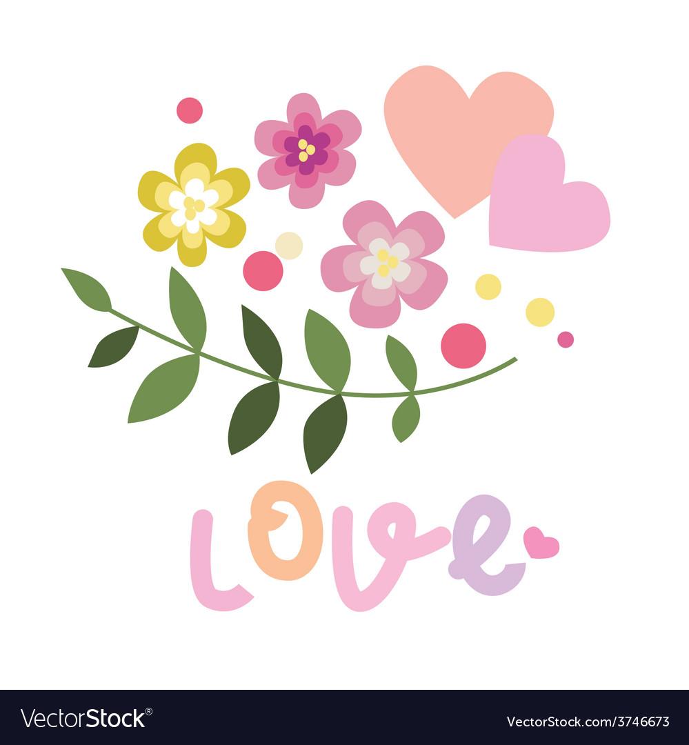 Floral valentine design vector   Price: 1 Credit (USD $1)