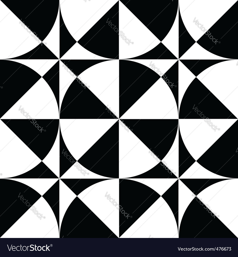 Seamless geometric op art design vector | Price: 1 Credit (USD $1)