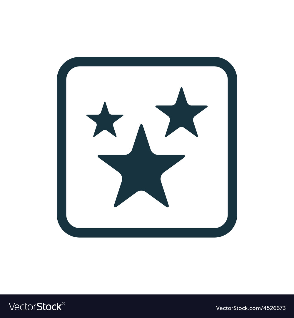 Stars icon rounded squares button vector | Price: 1 Credit (USD $1)