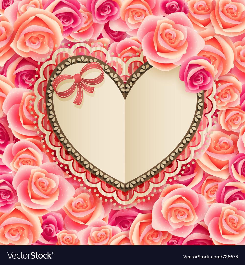 Valentines day vintage card vector   Price: 3 Credit (USD $3)