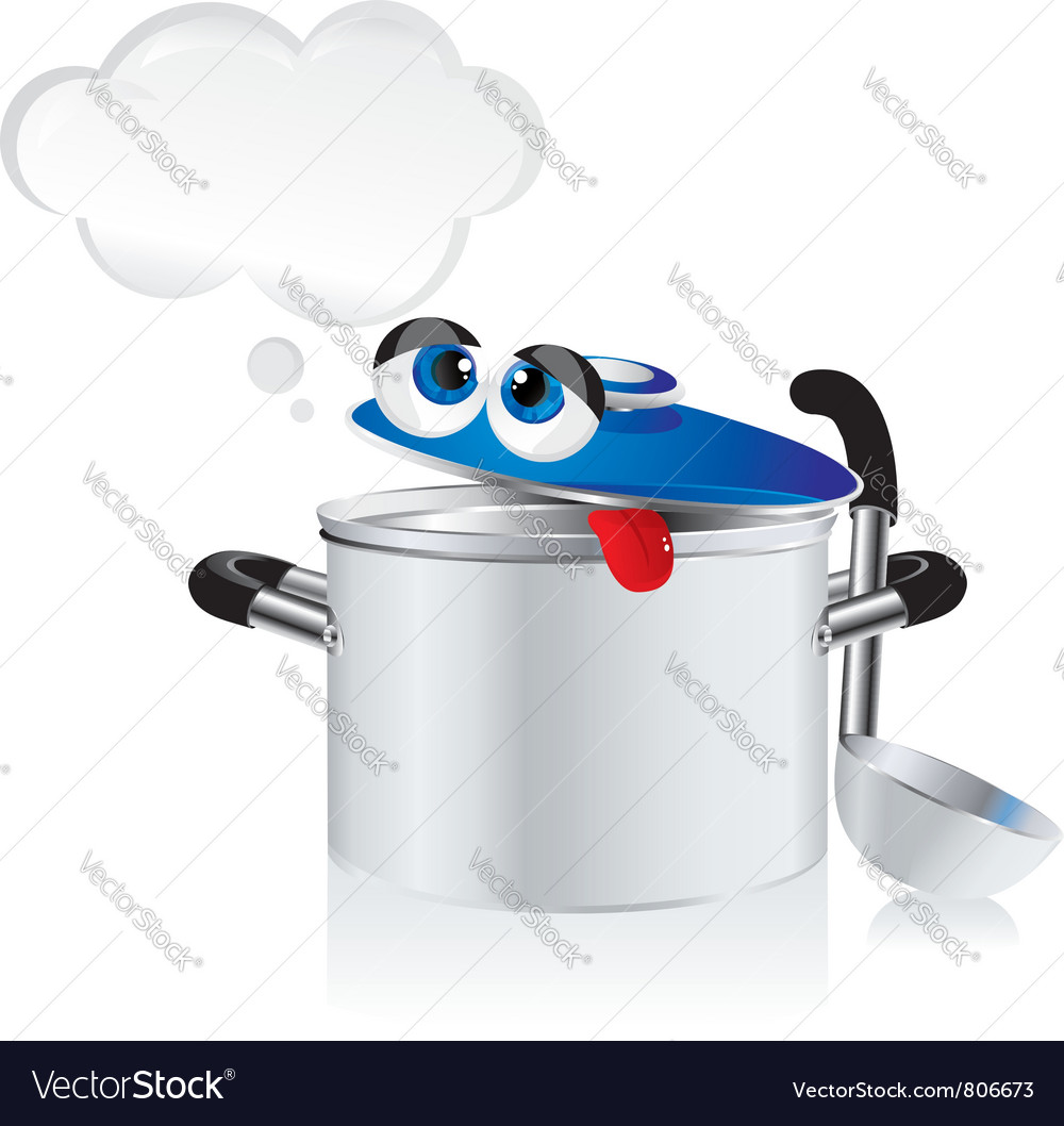 Weary pan with a ladle vector | Price: 1 Credit (USD $1)