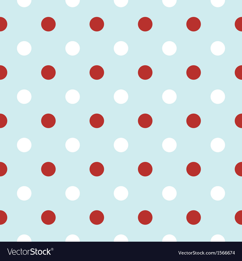 Christmas retro background with red polka dots vector | Price: 1 Credit (USD $1)