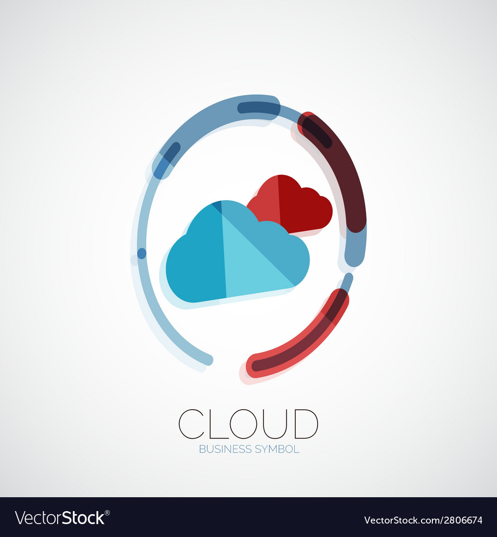 Cloud storage 3d company logo minimal design vector | Price: 1 Credit (USD $1)