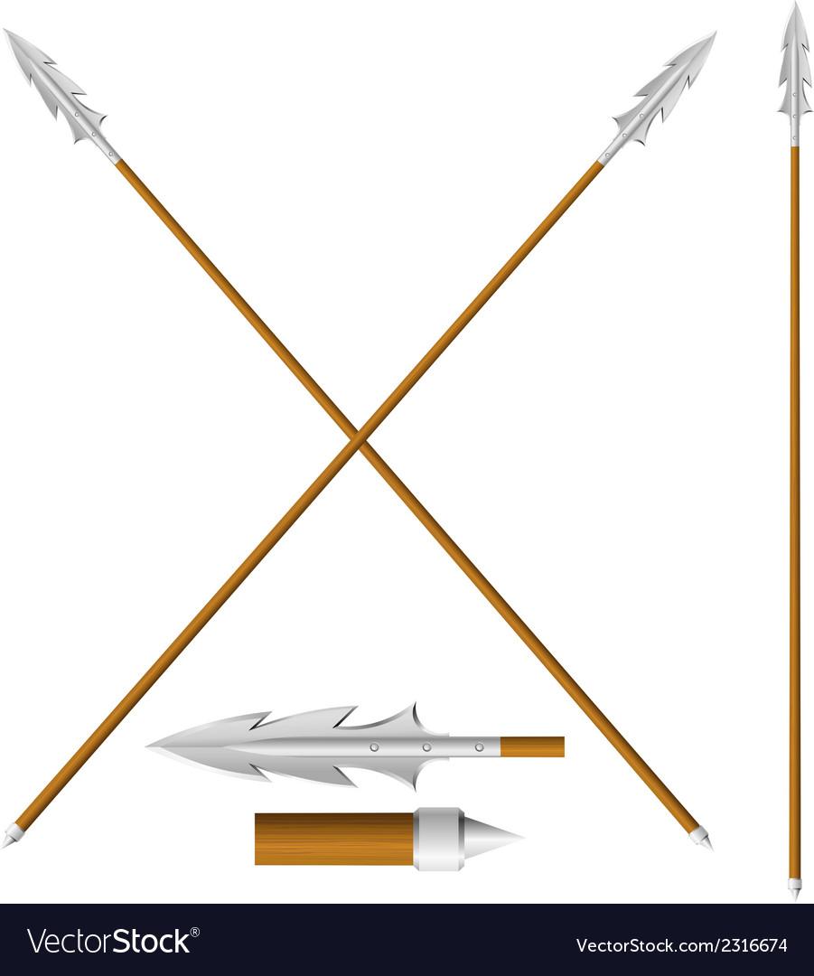 Crossed lances vector   Price: 1 Credit (USD $1)