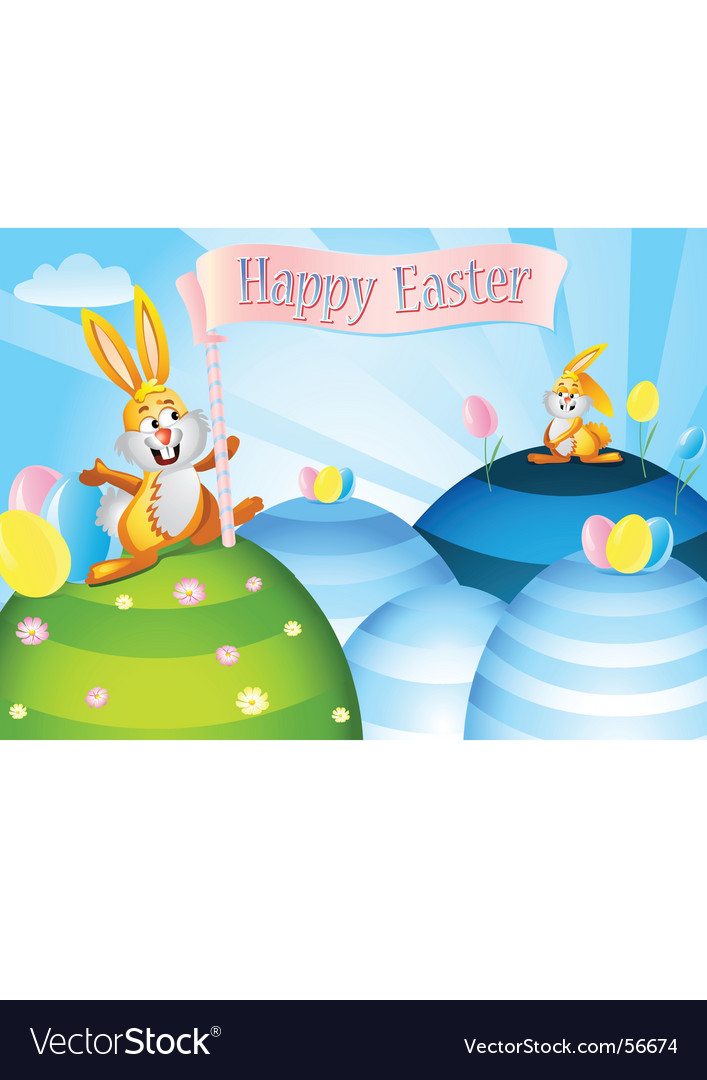Easter rabbits vector | Price: 3 Credit (USD $3)