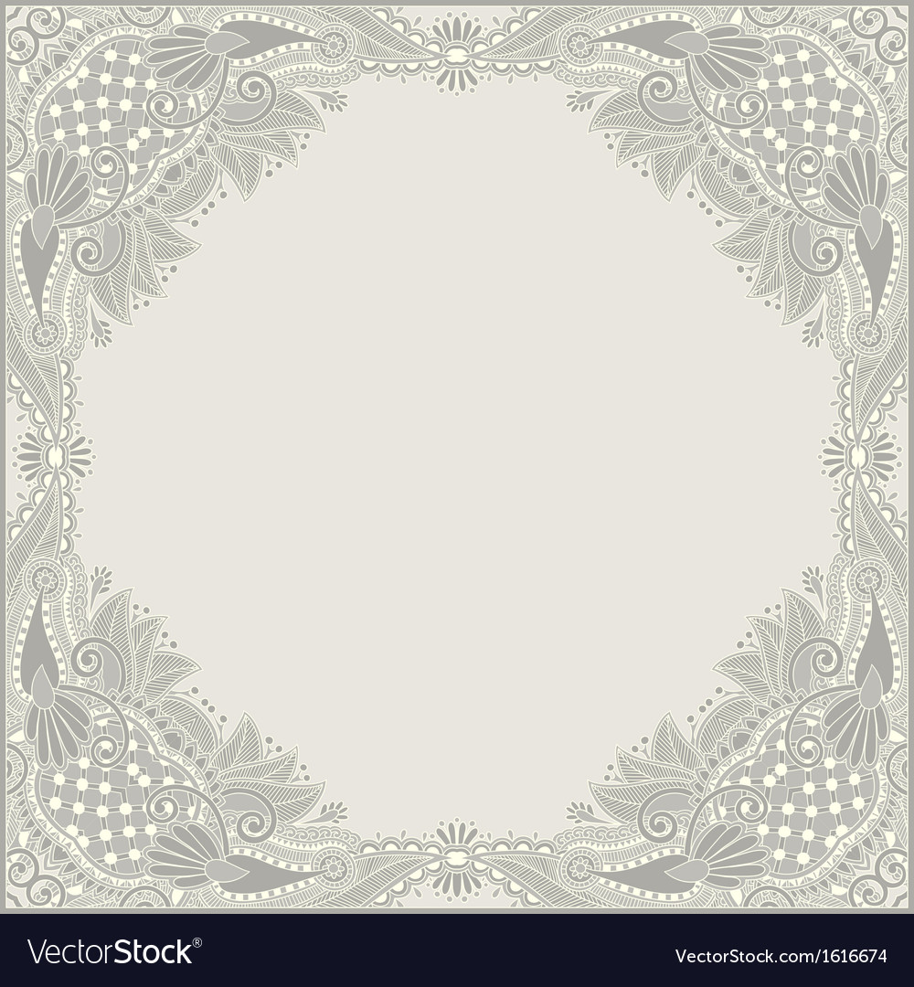 Floral vintage frame vector | Price: 1 Credit (USD $1)