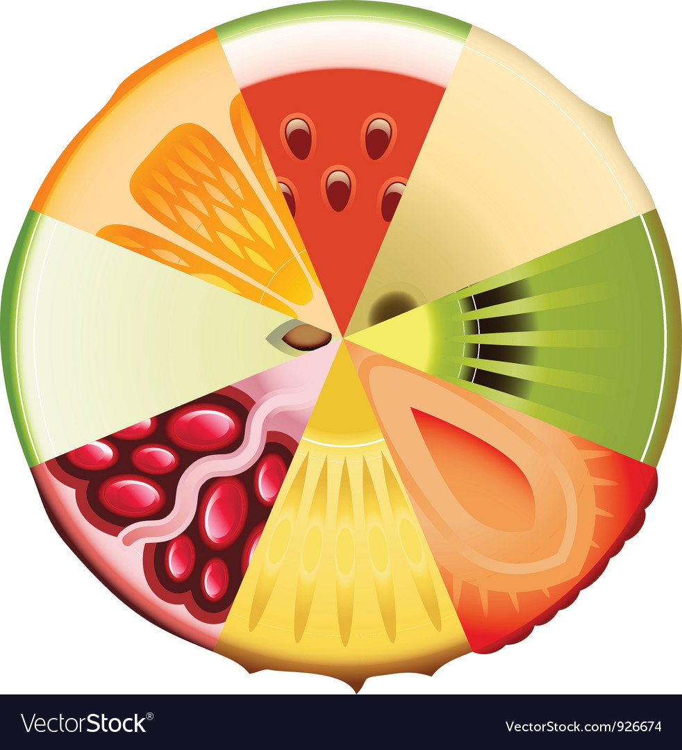 Fruit diet diagram vector | Price: 1 Credit (USD $1)