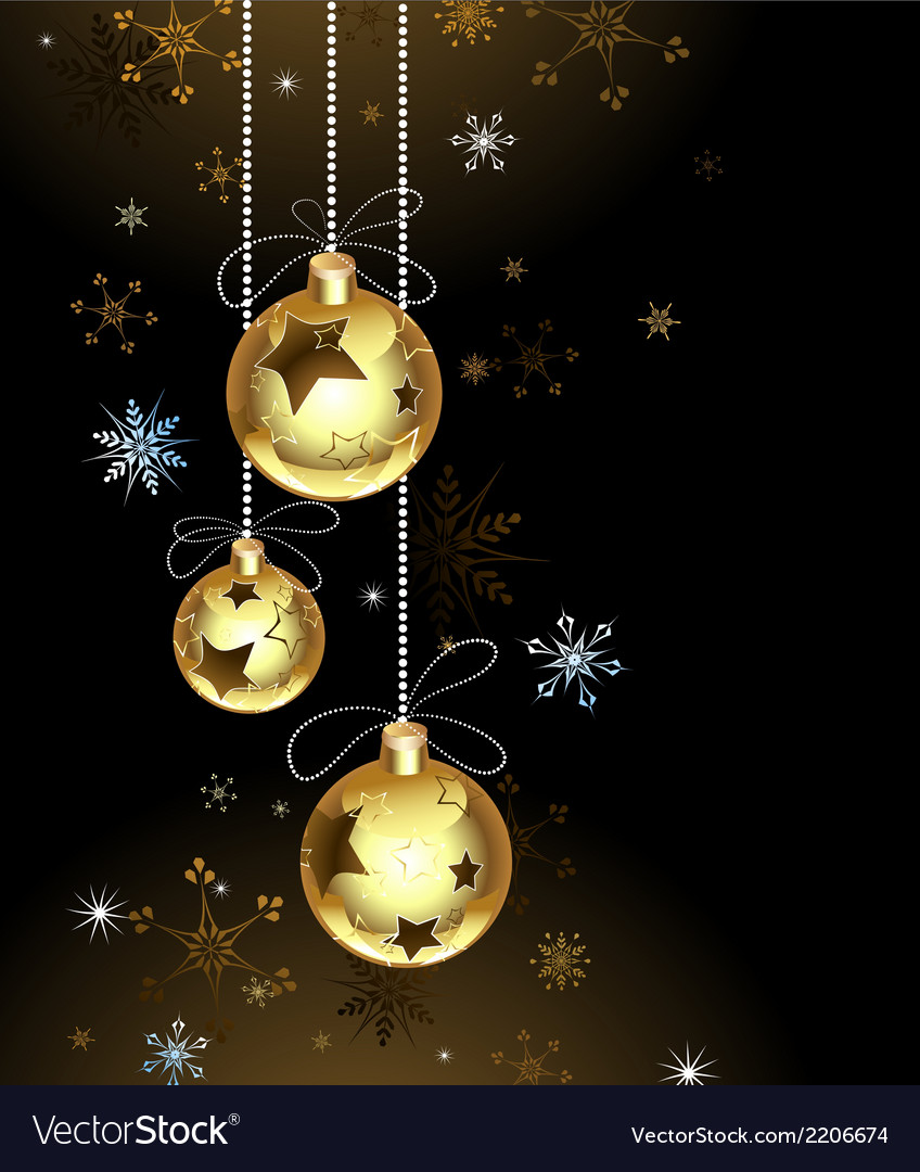 Gold christmas baubles vector | Price: 1 Credit (USD $1)