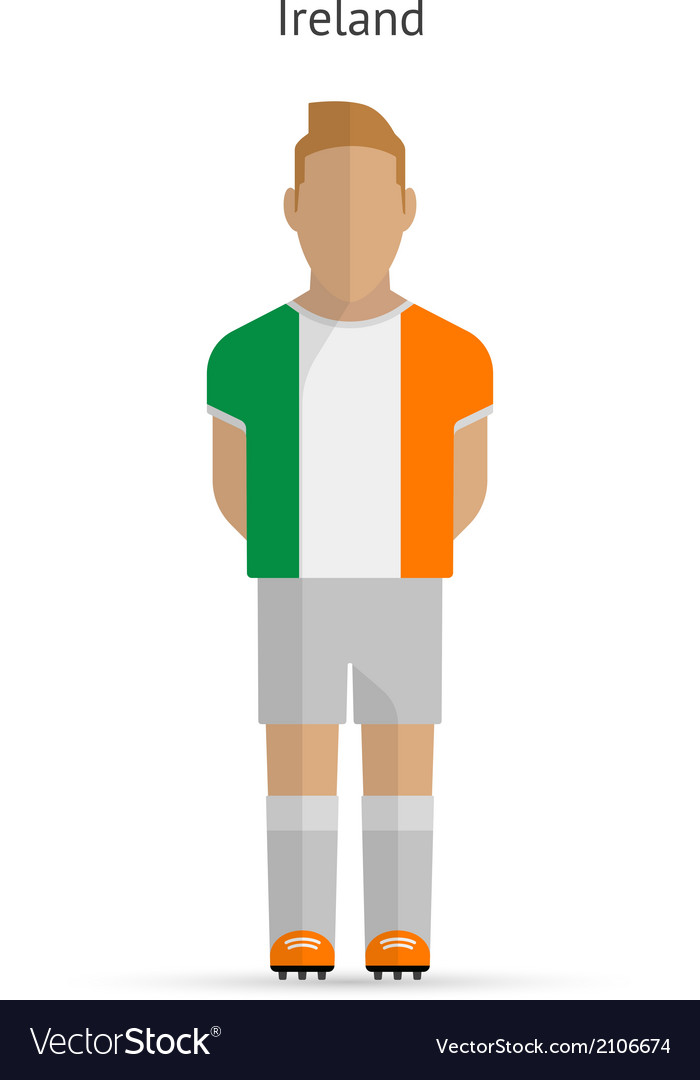Ireland football player soccer uniform vector | Price: 1 Credit (USD $1)