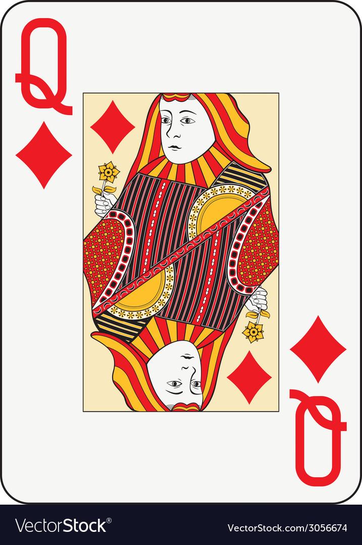 Jumbo index queen of diamonds vector | Price: 1 Credit (USD $1)