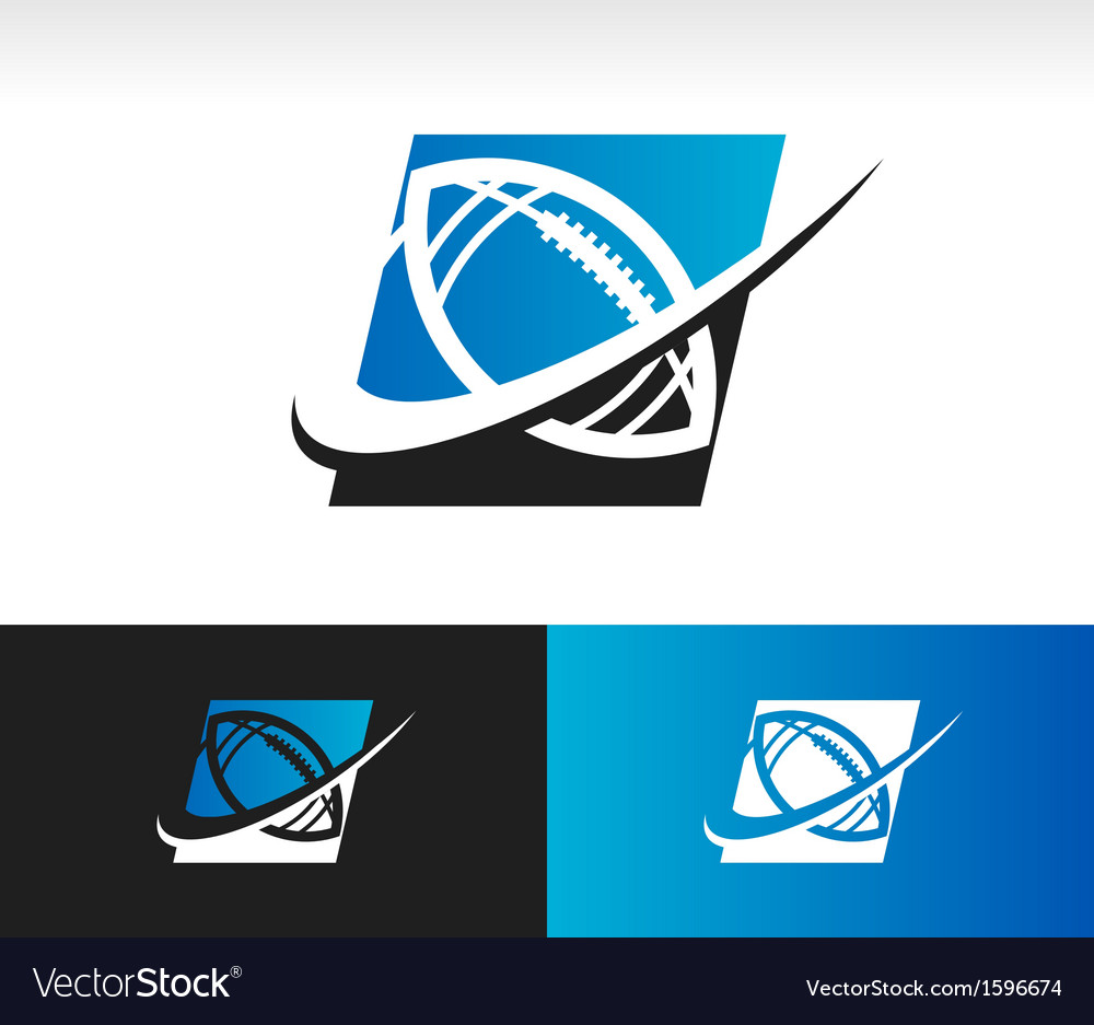 Swoosh football logo icon vector | Price: 1 Credit (USD $1)