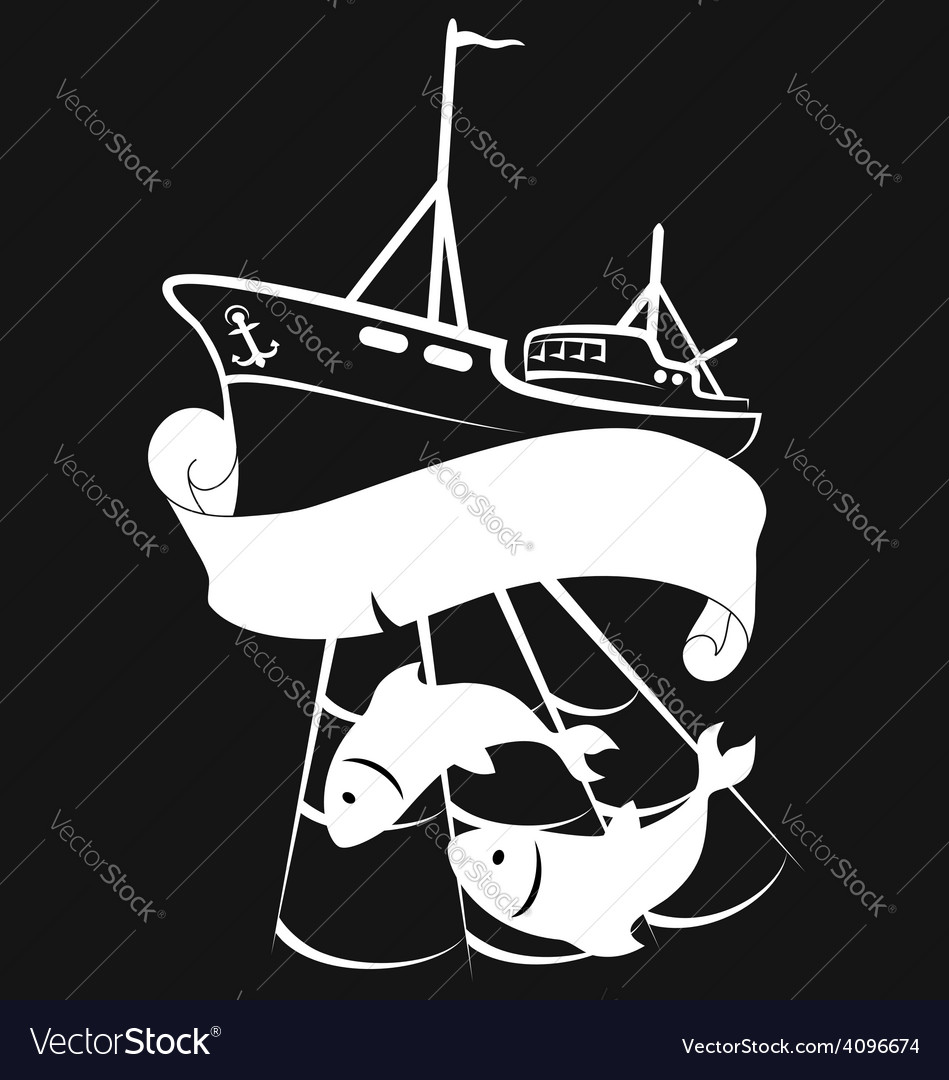 Vessel for fishing vector | Price: 1 Credit (USD $1)