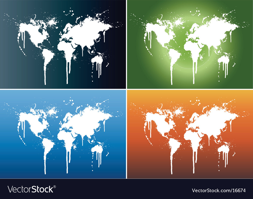 World splatter vector | Price: 1 Credit (USD $1)