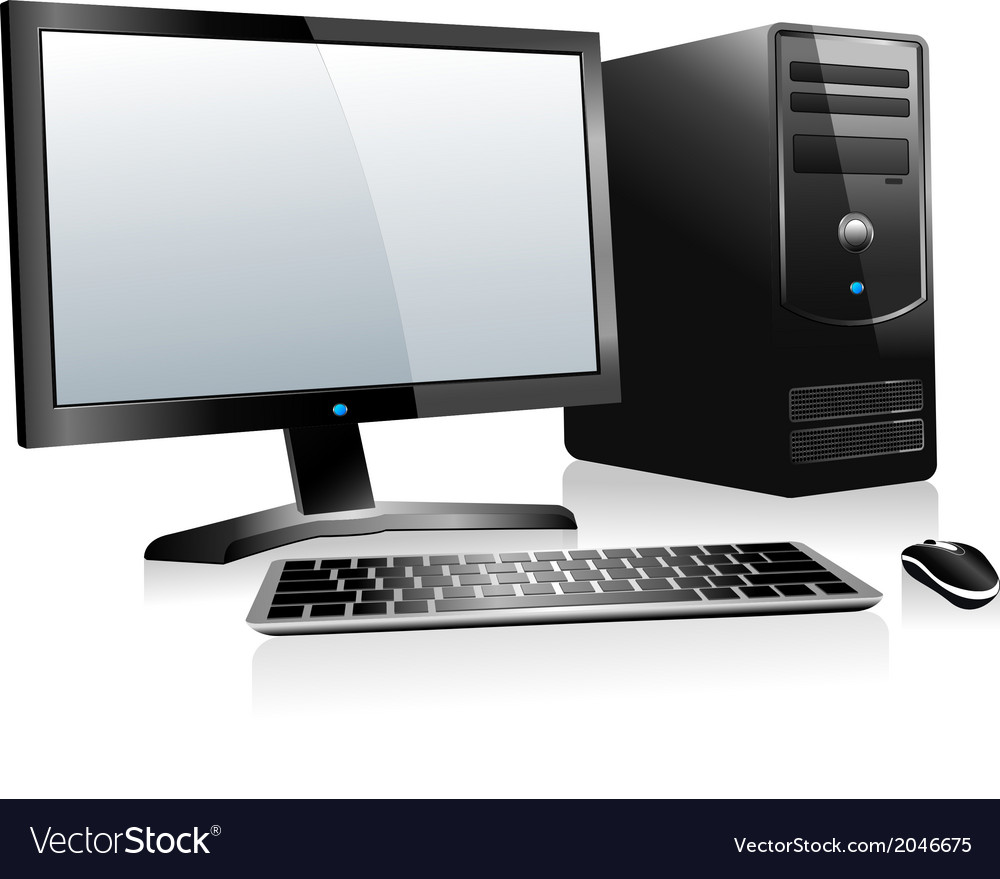 3d desktop computer vector | Price: 1 Credit (USD $1)