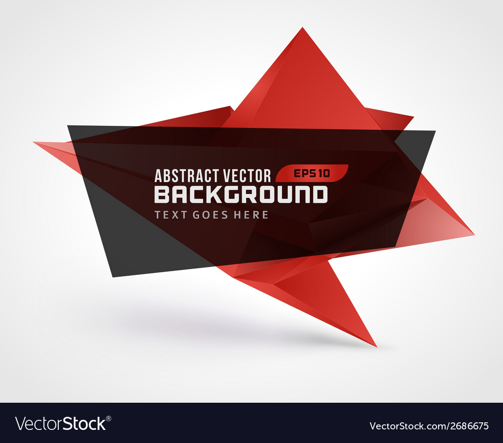 Abstract geometric 3d shape background vector | Price: 1 Credit (USD $1)