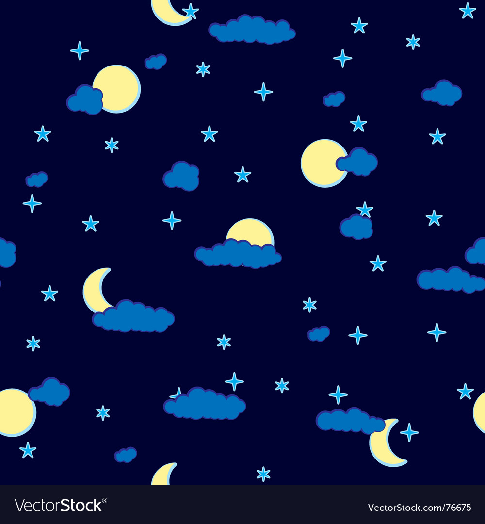Abstract night clouds background seamless vector | Price: 1 Credit (USD $1)