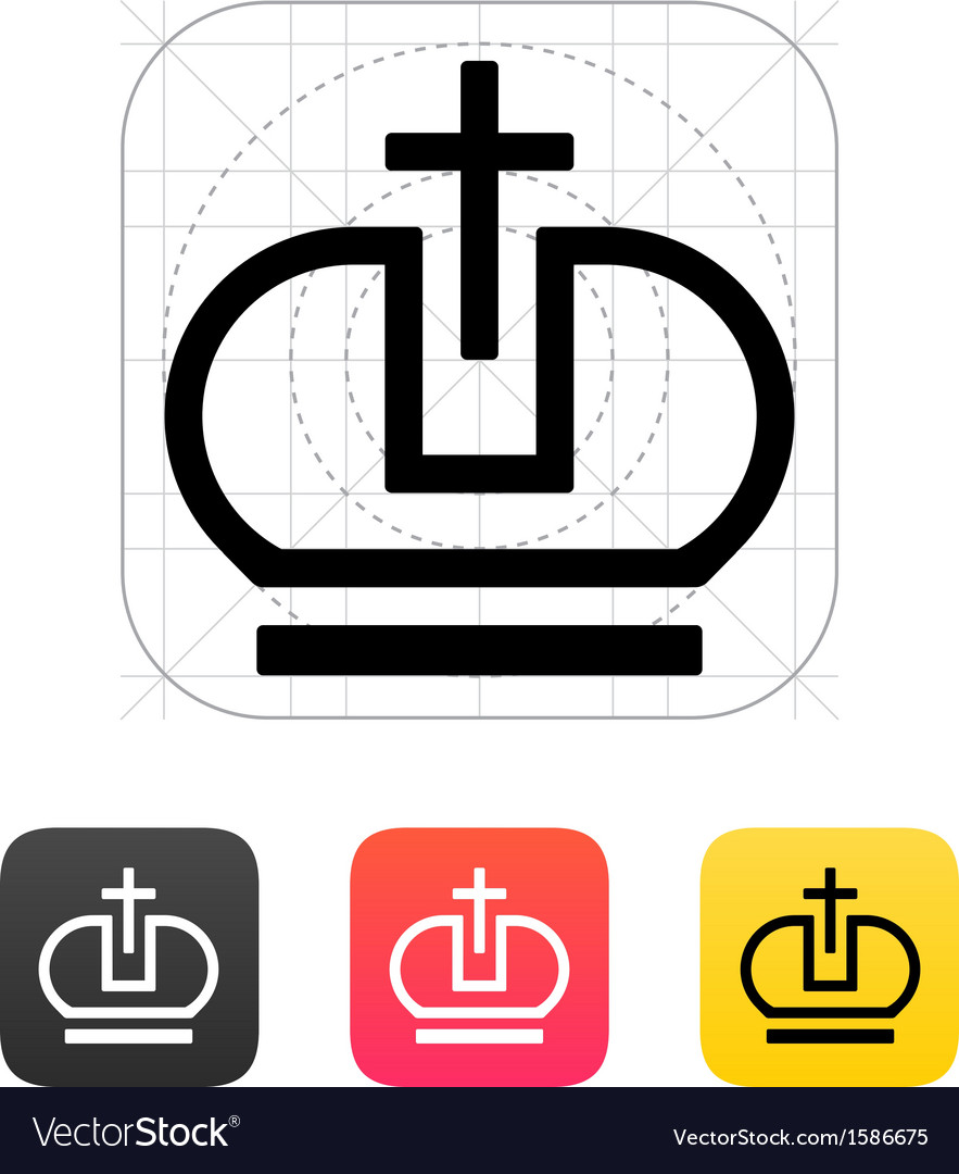 Crown pope icons vector | Price: 1 Credit (USD $1)