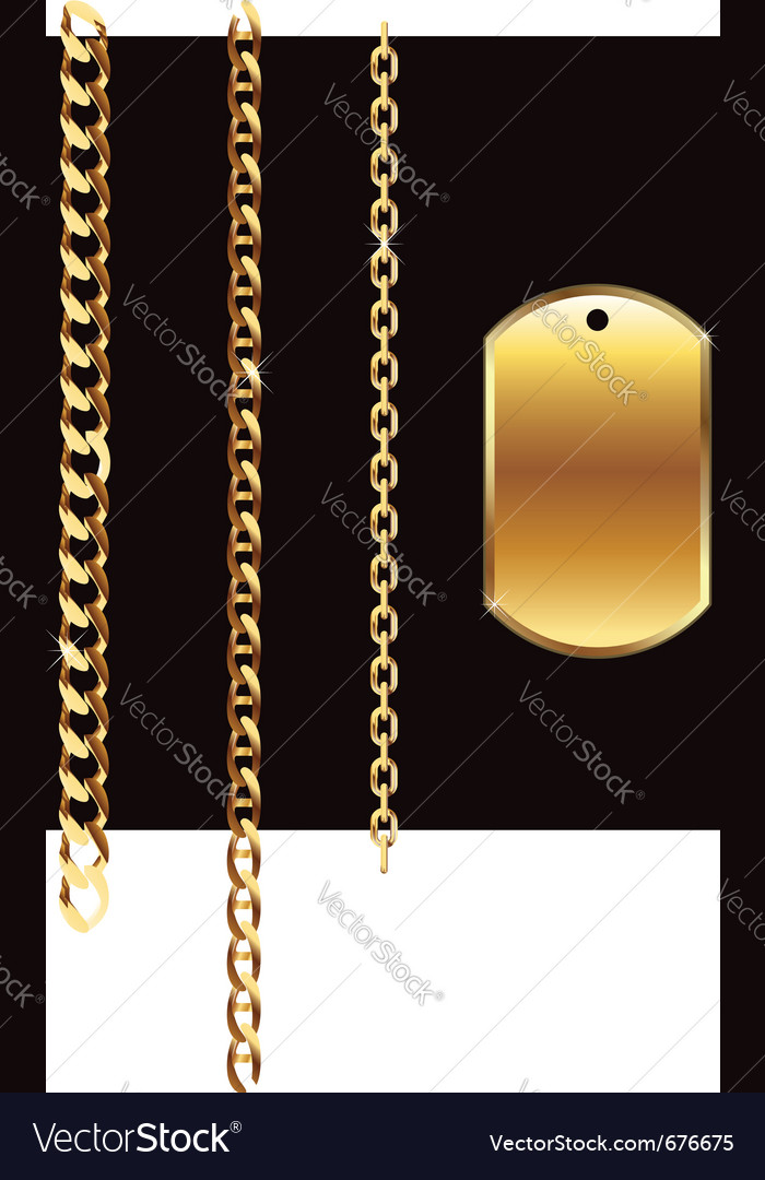 Gold chain vector | Price: 1 Credit (USD $1)
