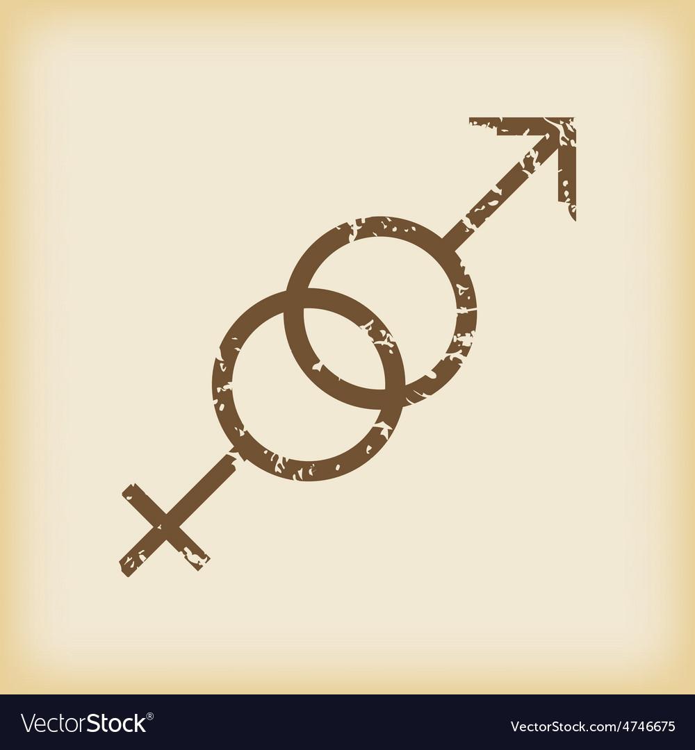 Grungy gender symbols icon vector   Price: 1 Credit (USD $1)
