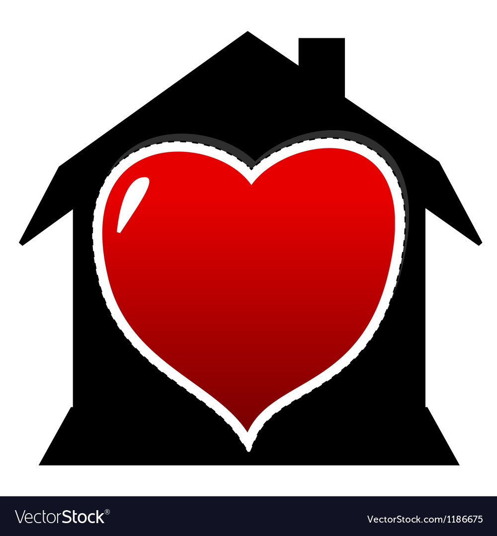 I love home vector | Price: 1 Credit (USD $1)