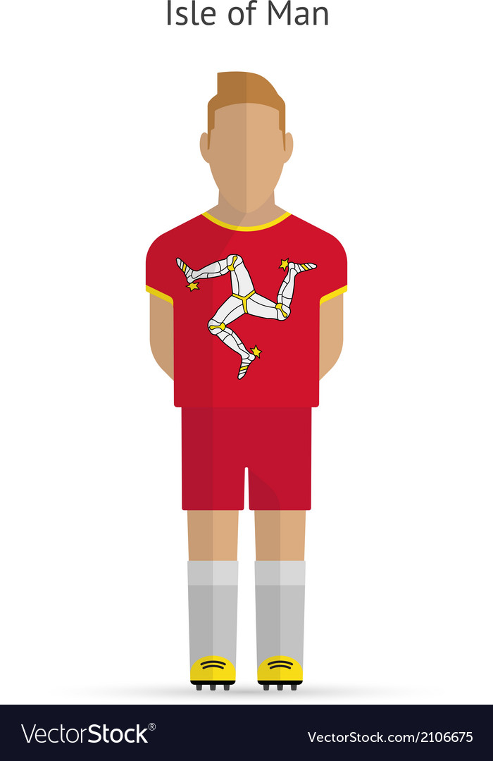 Isle of man football player soccer uniform vector   Price: 1 Credit (USD $1)