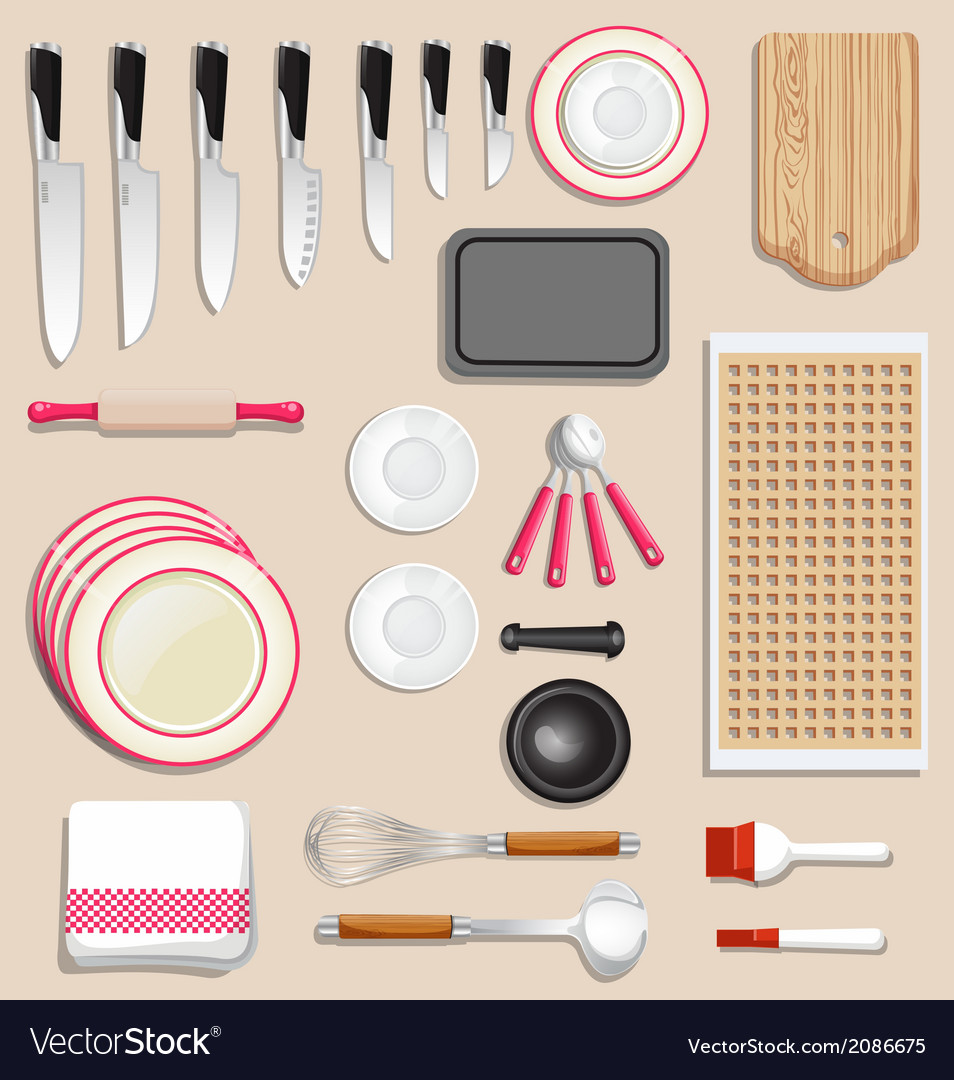 Kitchenware and tool icon set vector | Price: 1 Credit (USD $1)