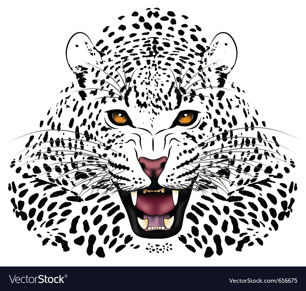 Leopard tattoo vector | Price: 1 Credit (USD $1)