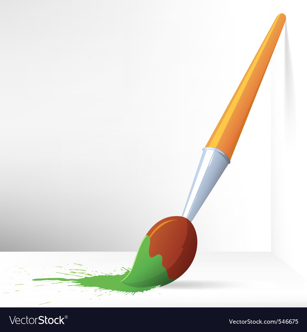Paint brush vector | Price: 1 Credit (USD $1)