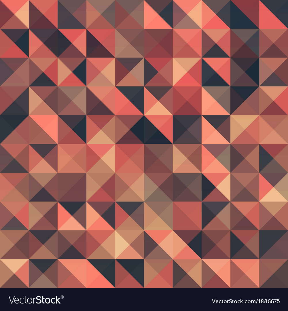 Retro seamless triangle abstract pattern vector | Price: 1 Credit (USD $1)