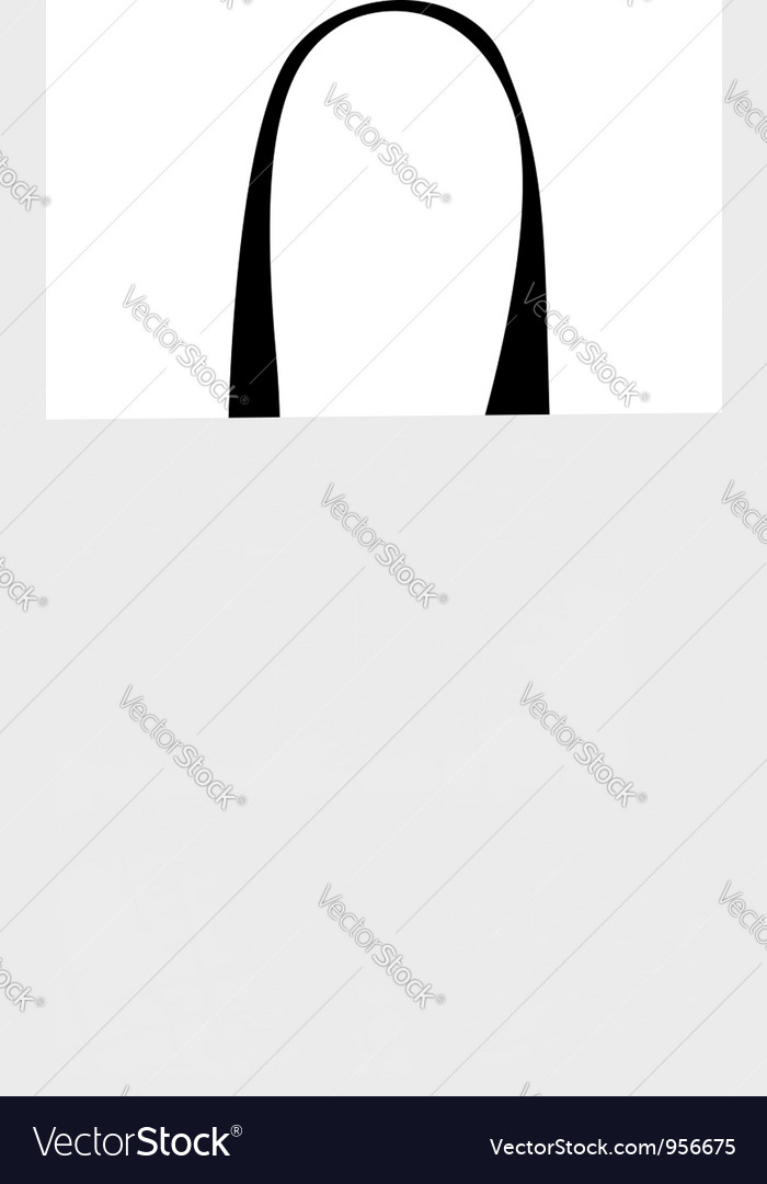 Shopping bag isolated with grunge pattern vector   Price: 1 Credit (USD $1)