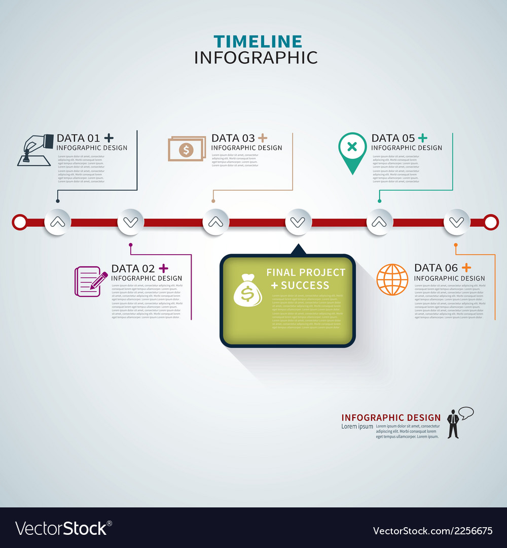 Timeline template infographic vector | Price: 1 Credit (USD $1)