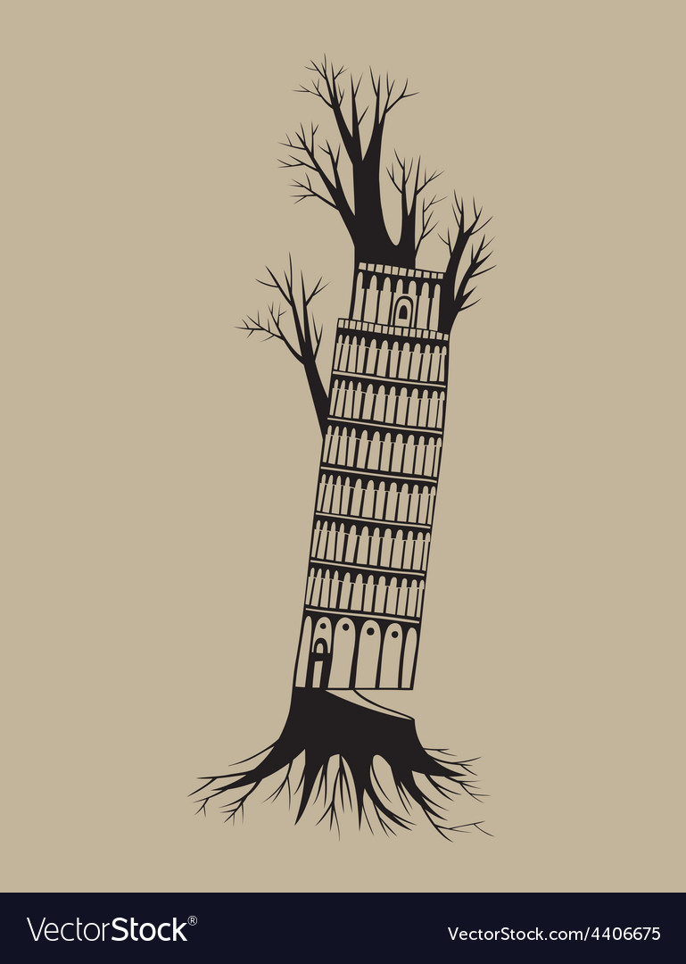 Tree pisa vector | Price: 1 Credit (USD $1)