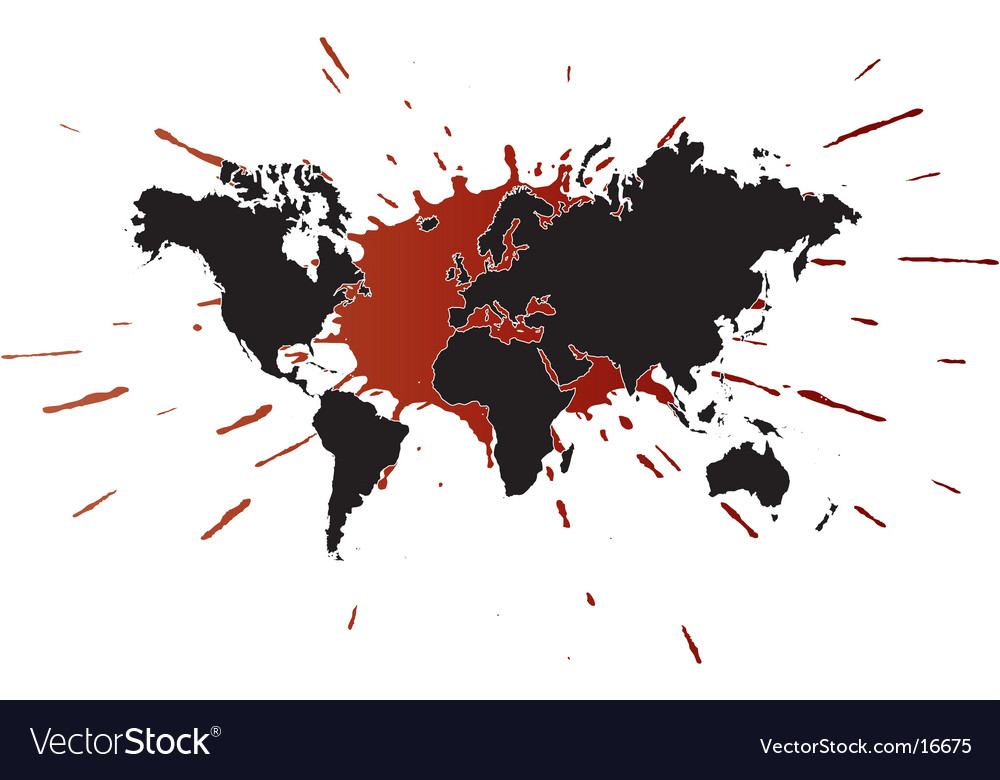 World ink design vector | Price: 1 Credit (USD $1)