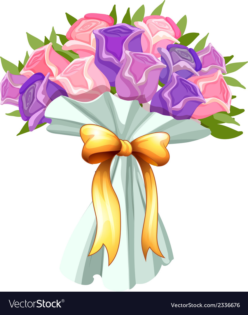 A boquet of blooming flowers vector | Price: 1 Credit (USD $1)