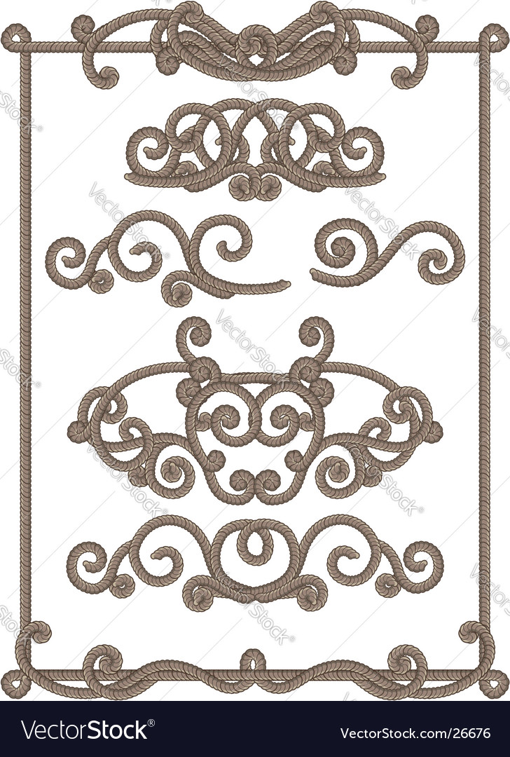 Cord frame vector | Price: 1 Credit (USD $1)