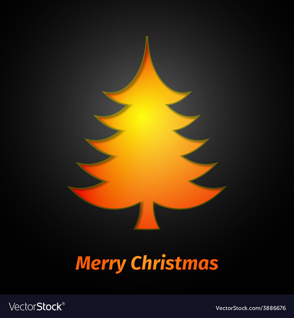 Creative paper christmas tree vector   Price: 1 Credit (USD $1)