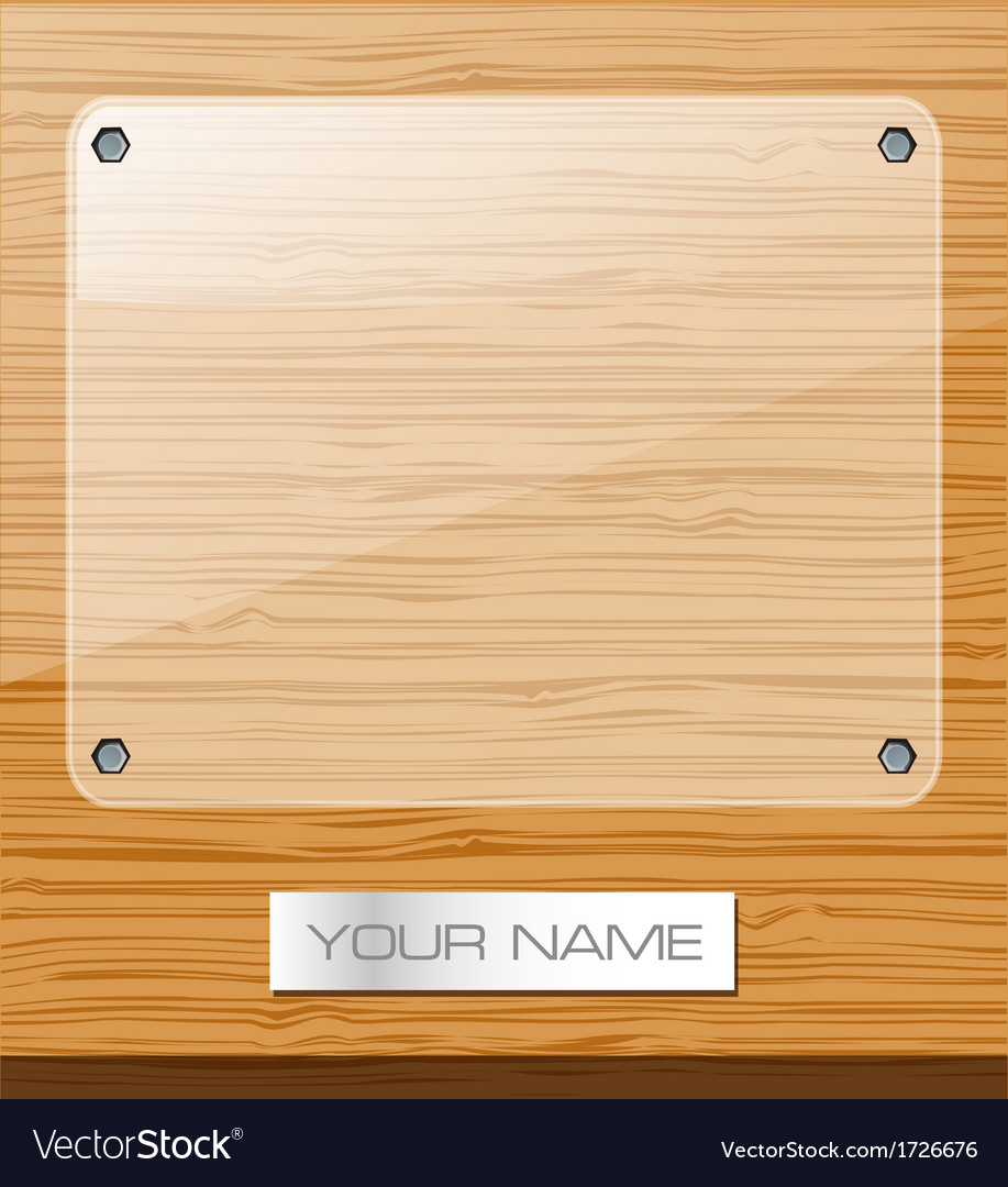Glass round wood advertising background vector | Price: 1 Credit (USD $1)