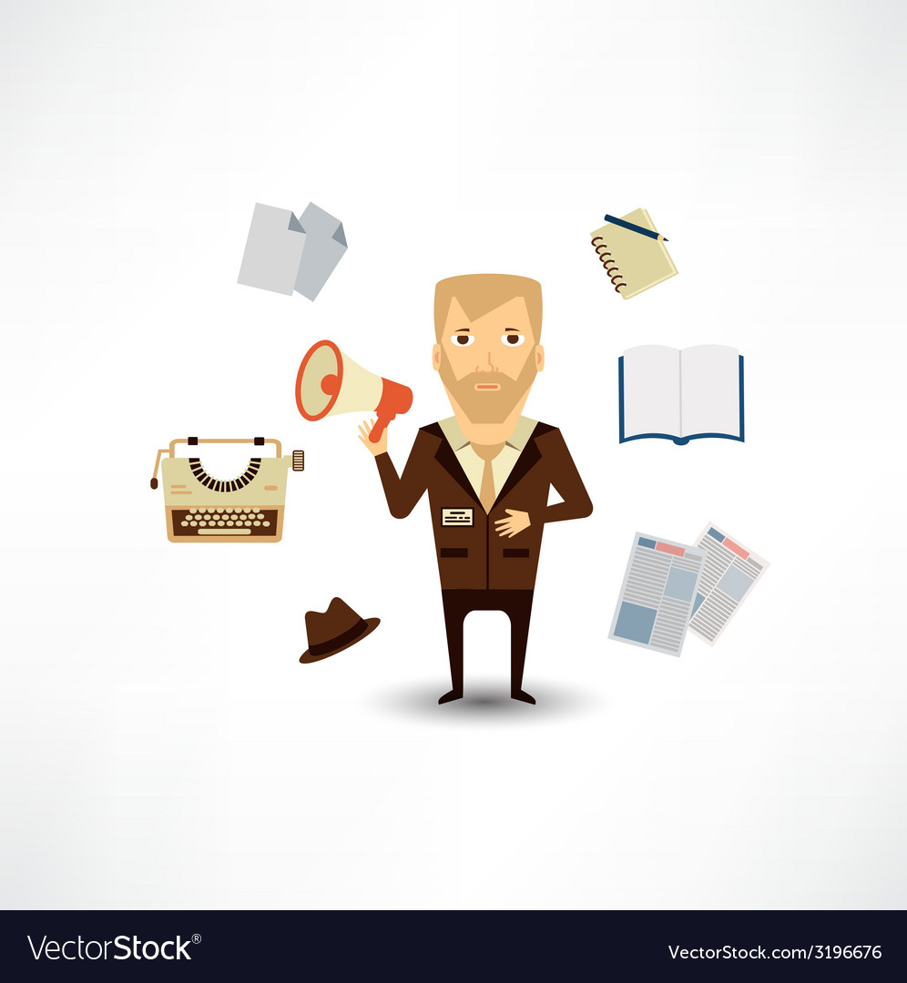 Journalist said to the speaker vector   Price: 1 Credit (USD $1)