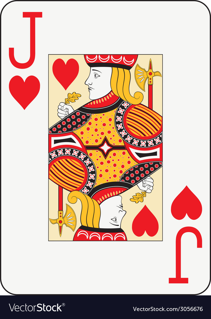 Jumbo index jack of hearts vector | Price: 1 Credit (USD $1)